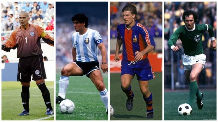 Chilavert, Laudrup, Maradona, Beckenbauer