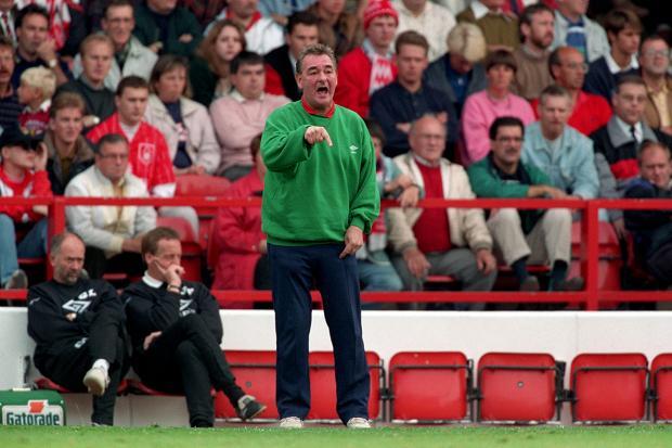 Brian Clough ya en sus ultimos momentos en Nottingham
