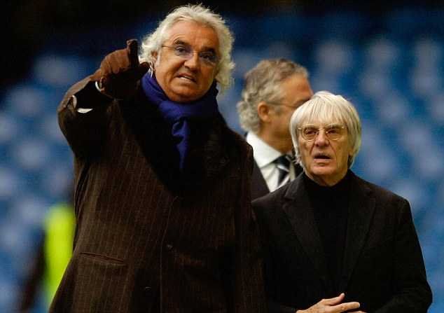 FLAVIO BRIATORE AND BERNIE ECCLESTONE AT STAMFORD BRIDGE CHELSEA v QPR FA CUP ROUND 3 COPYRIGHT PHOTOGRAPH : MARK PAIN 07774 842005. 5/1/2008