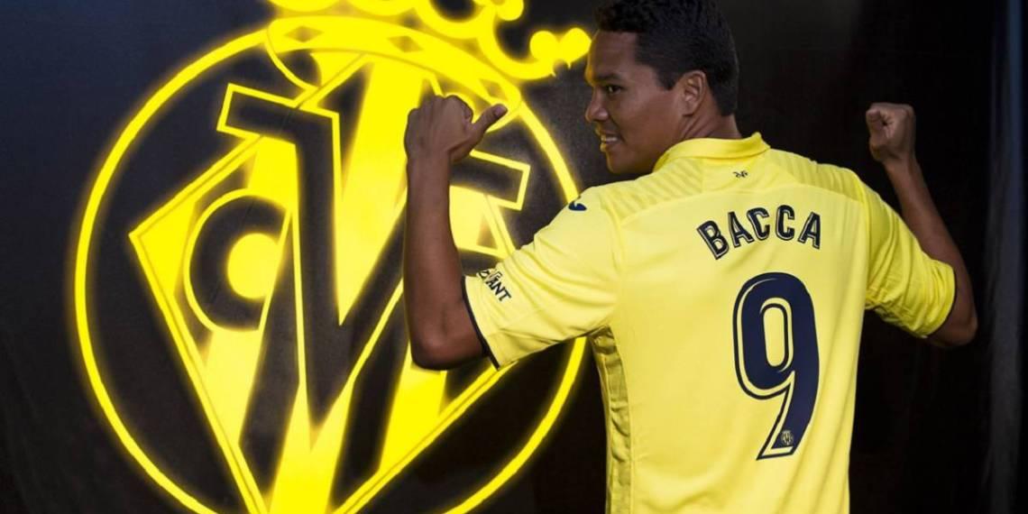 Bacca trae sus goles al Villarreal.