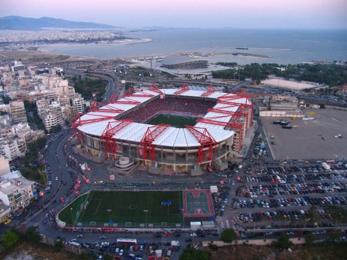 El estadio Georgios Karaiskakis, la casa del Oympiacos.