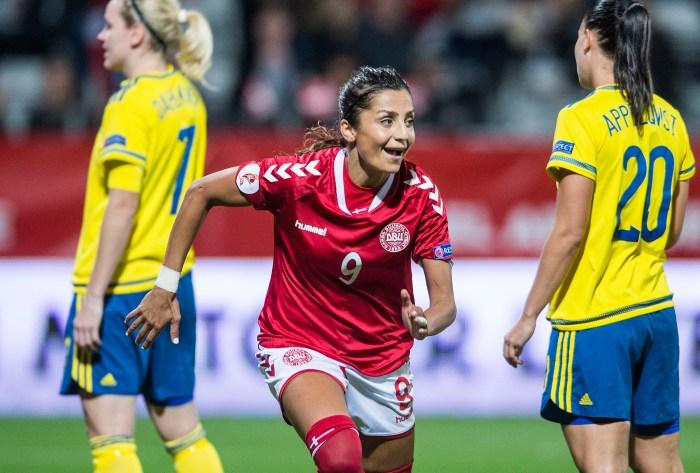 [DK=20160920: Nadia Nadim, Danmark, har scoret til 2-0] [UK=20160920: Nadia Nadim, Danmark]