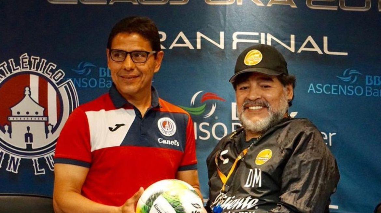 Alfonso Sosa y Diego Maradona se volverán a topar en una final