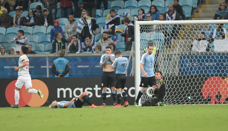 A Uruguya lo golpearon dos veces y devolvió el golpe en ambas ocasiones.