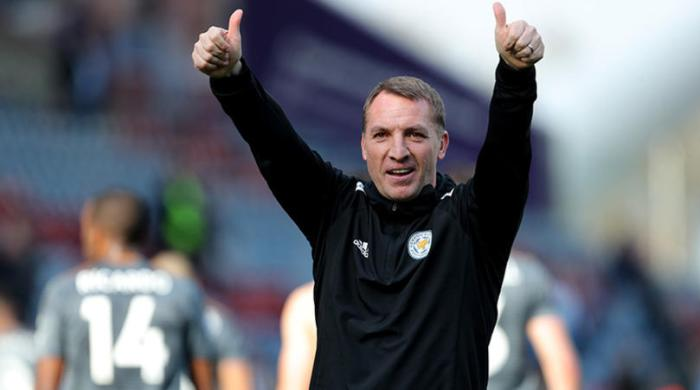 Leicester City manager Brendan Rodgers after the win
