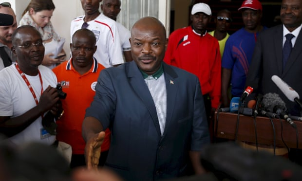 Pierre Nkurunziza en su faceta presidencial.