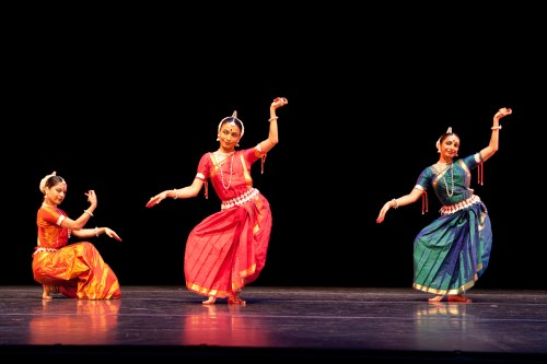 Nrityagram Dance Ensemble, and Chitrasena, perform ALAP, Surupa Sen, Bijayini Satpathy, Pavithra Reddy, photo: Nan Melville.
