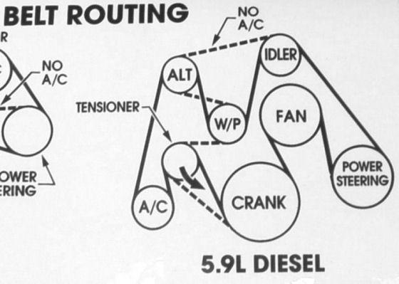 2006 dodge ram serpentine belt diagram