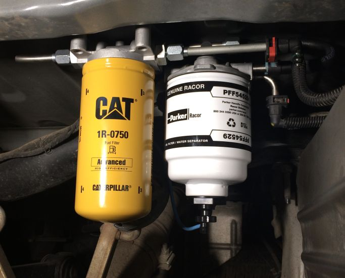 Installed the 2 Micron CAT filter from Diesel Fuel Filter Kits