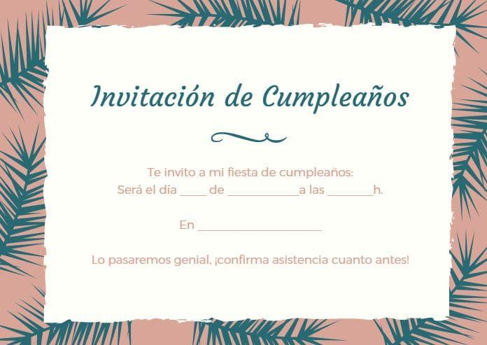 Tarjetas de invitación de cumpleaños \u2013 Imagenes y Tarjetas de Cumpleaños