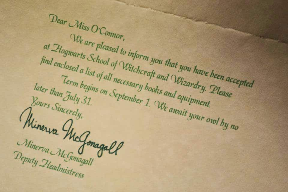 Letters from Santa  Hogwarts Acceptance Letters + Giveaway Winners - hogwarts acceptance letter