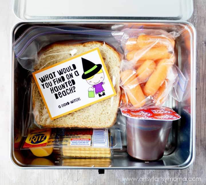 Free Printable Halloween Lunch Box Jokes 30 Days of Halloween - Day