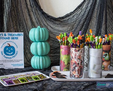 It's easy to signal families that yours is a food-allergy safe house. Simply display your teal pumpkin and/or flyer on your porch or handout table.