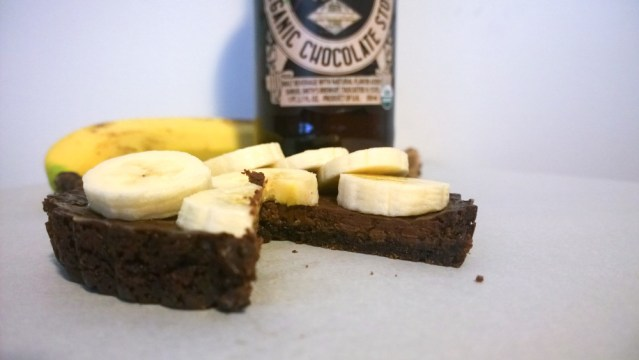 Chocolate Banana Tarts with Chocolate Stout