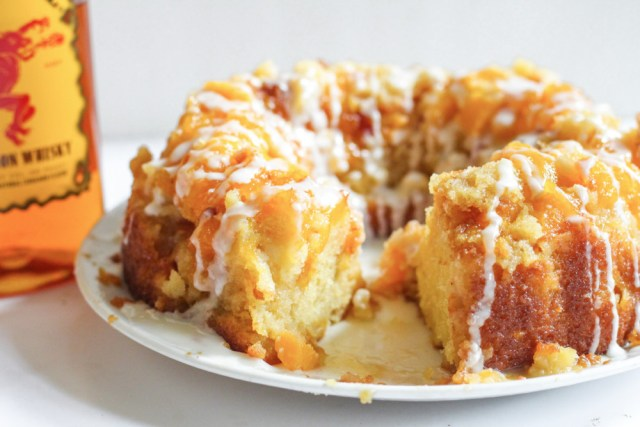 Fireball Vanilla Peach Cake