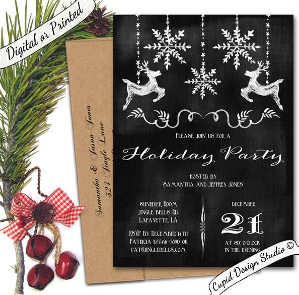 holiday party invites