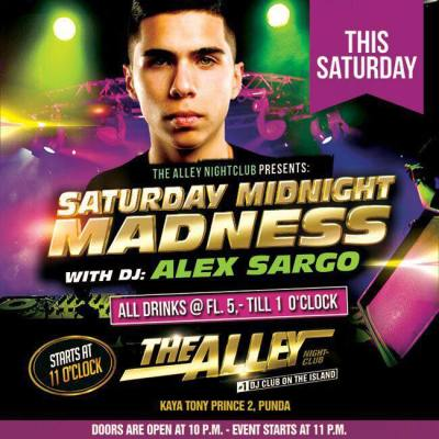 Saturday Midnight Madness at The Alley Curacao