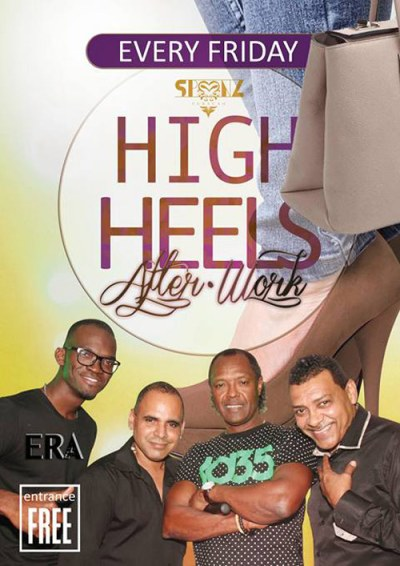 High Heels After Work at Club Spoonz Curacao