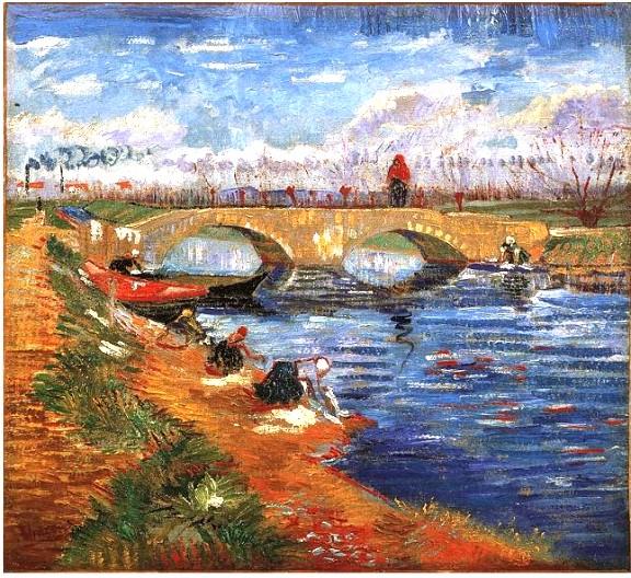 The Gleize Bridge over the Vigueirat Canal by Vincent van Gogh