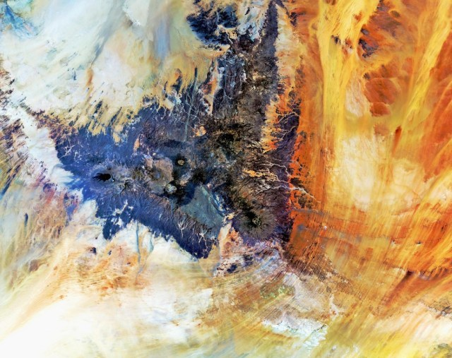 """Tibesti Mountains"" Photo: ESA http://www.esa.int/spaceinimages/Images/2012/11/Tibesti_Mountains"