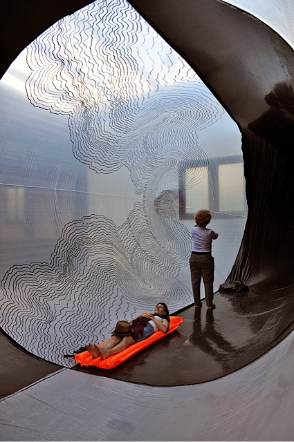 """""""Movement Membrane"""" 2013 pvc sheeting, fan"""
