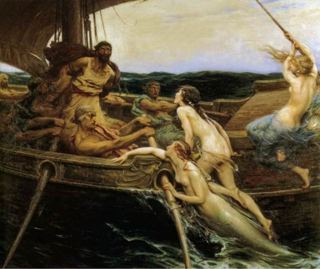 """""""Odysseus and the Sirens""""  by  Herbert James Baker"""
