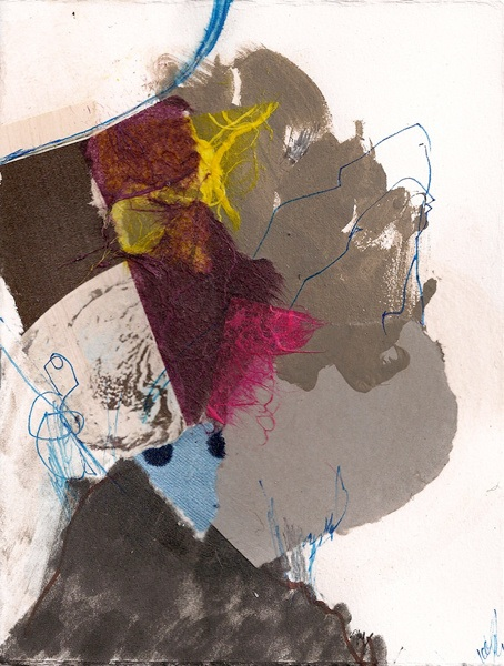 """""""Visual Diary #3"""" Mixed media collage on paper 6.5 x 5 2011"""