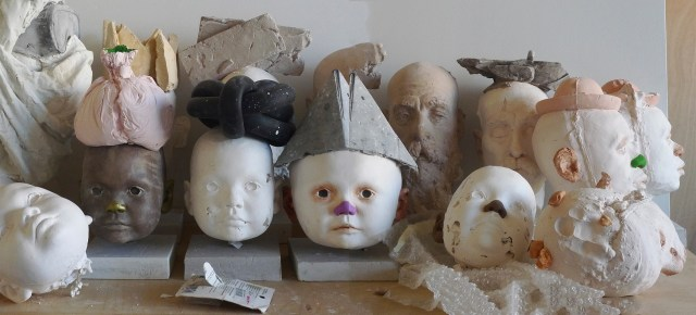 Head Series Polychrome Plaster Life-size busts, size varies Depending on Installation 2011-Now