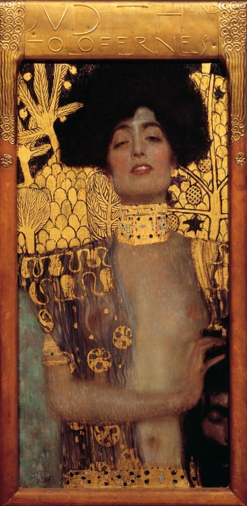 Gustav Klimt Judith and the Head of Holofernes 1901 Oil on canvas 84 cm × 42 cm Österreichische Galerie Belvedere, Vienna