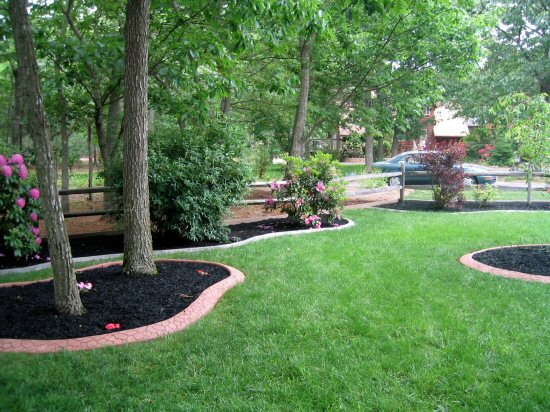 Curb Samples Landscape and Concrete Curb Machines - sample lawn and garden