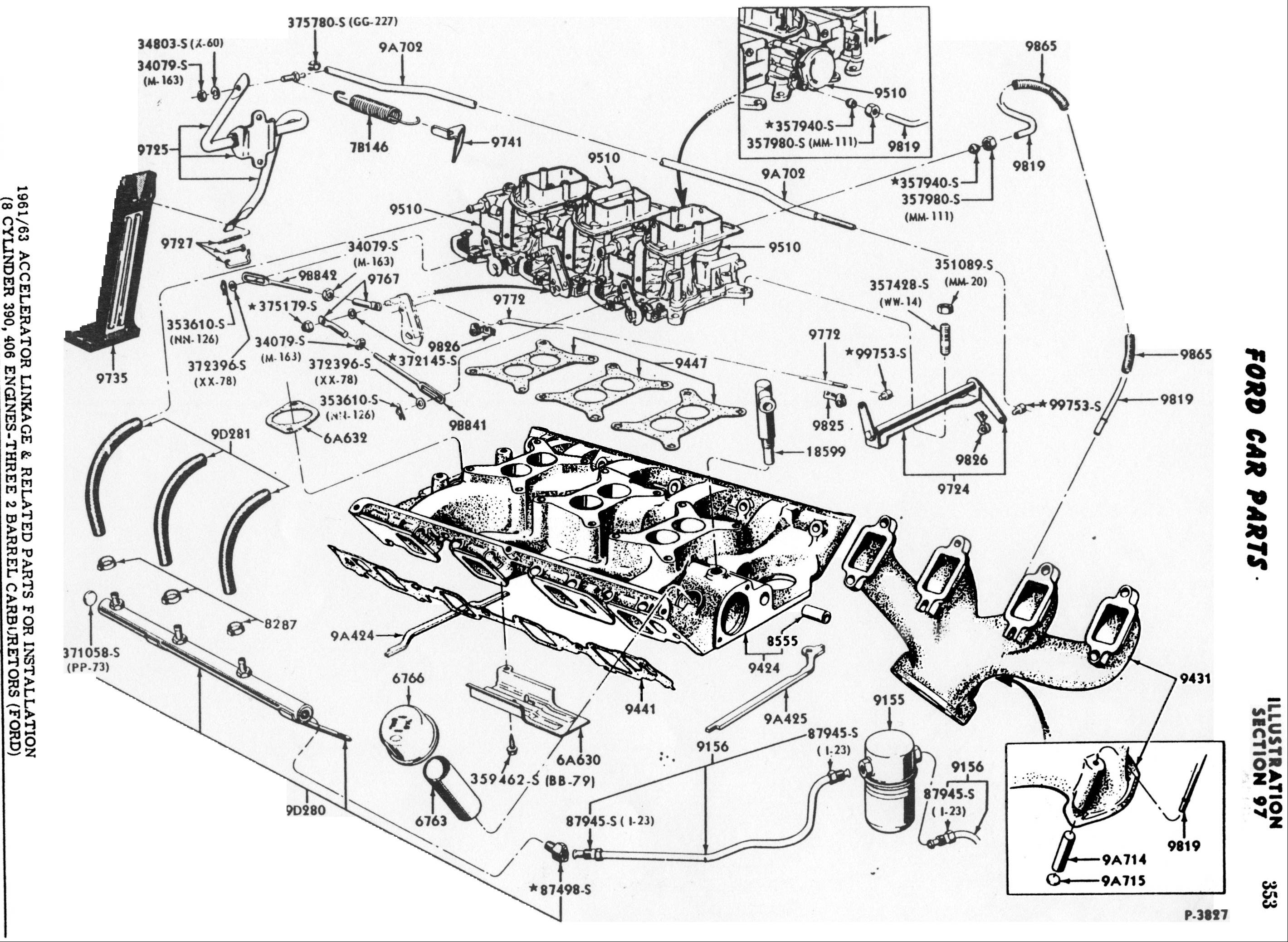 460 ford engine exploded diagram