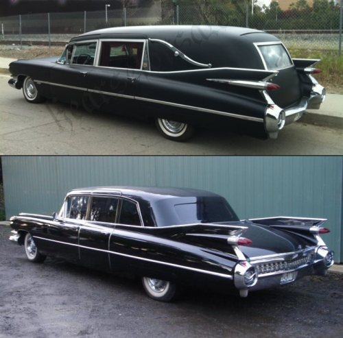 Cadillac 1959 hearse-vert