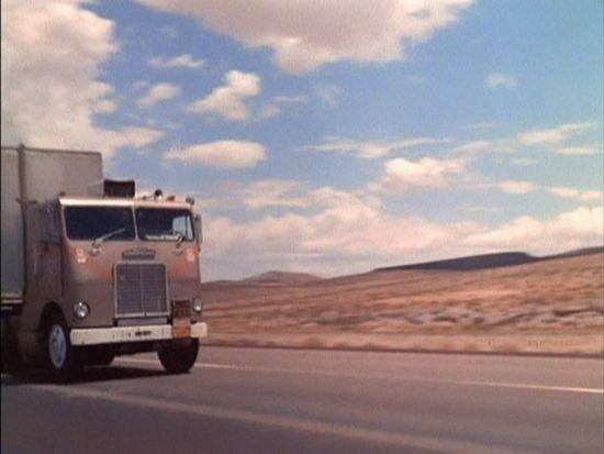 White Freightliner road