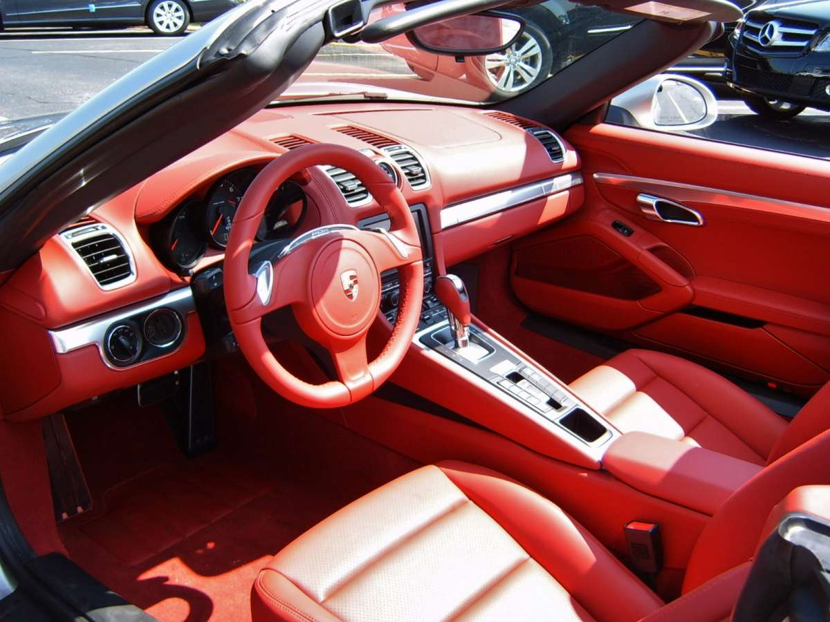 future cc look a red interior in a new car