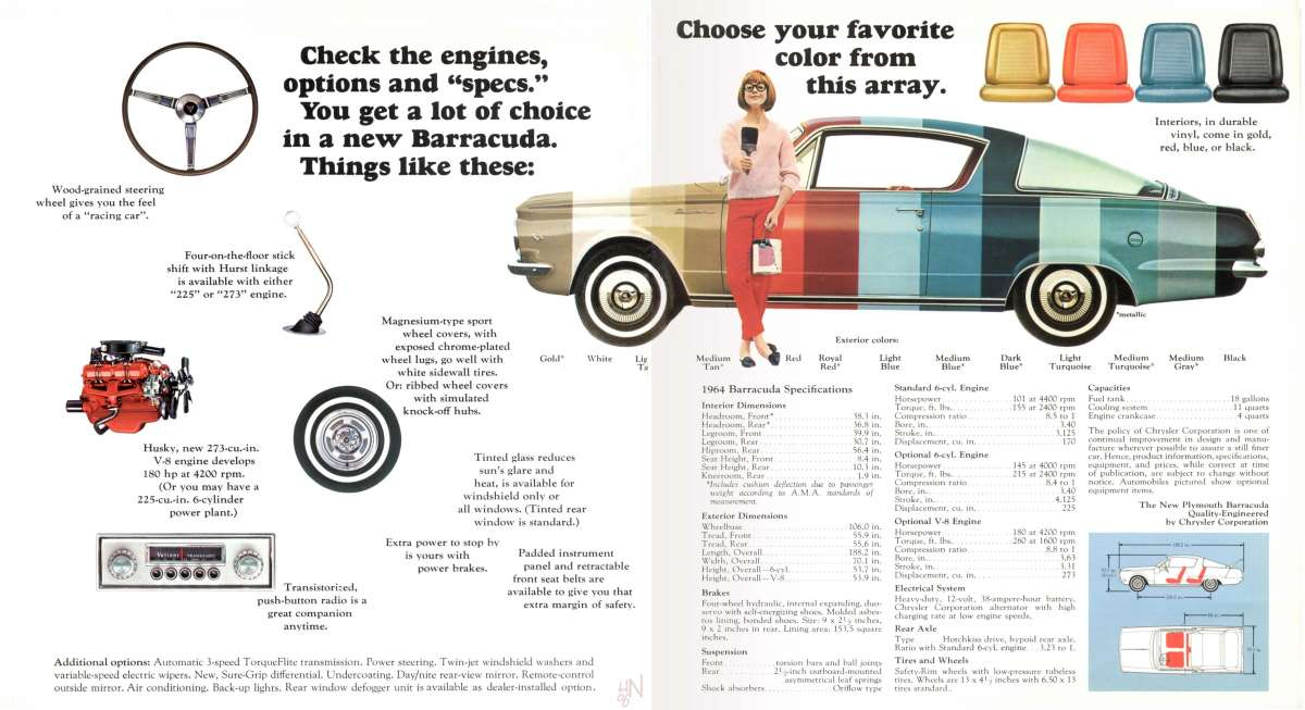 1964 Plymouth Barracuda 65 Baracuda Pinterest Plymouth - advertisement brochure