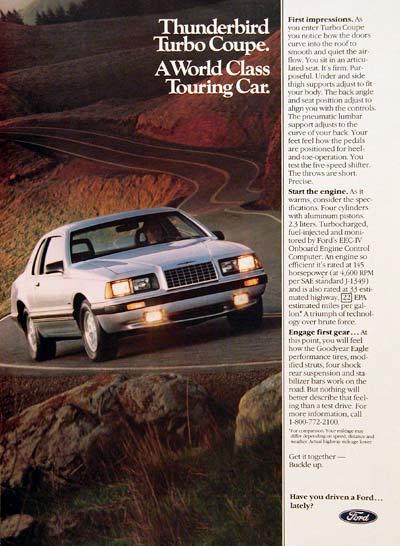 Ford 1983 thunderbird turbo