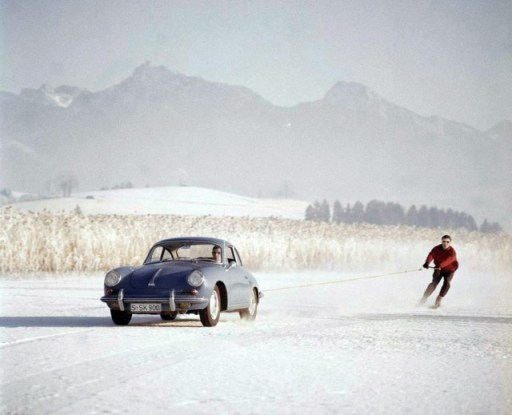 Porsche 356 ski tow