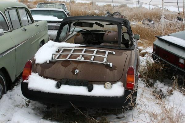 MG B rear