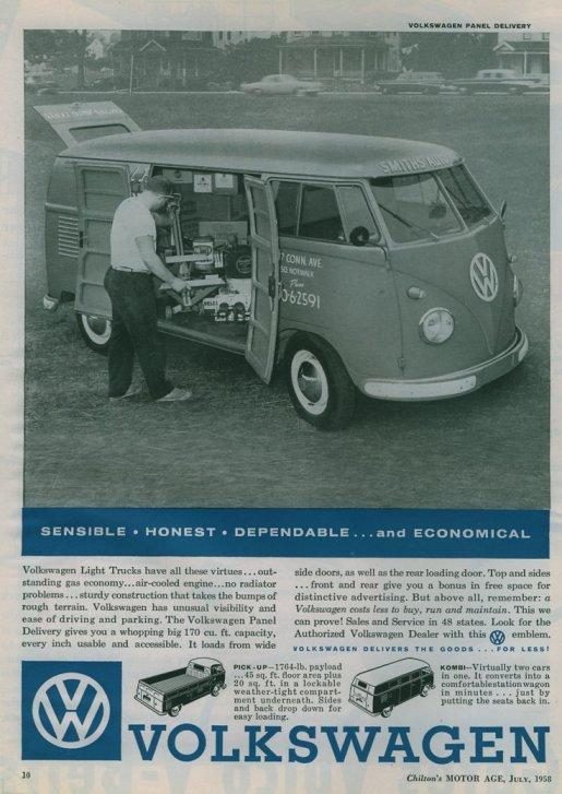 VW paneldelivery 1958