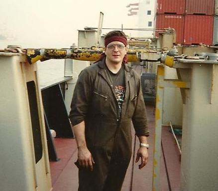 Your author as a Merchant Mariner circa 1991