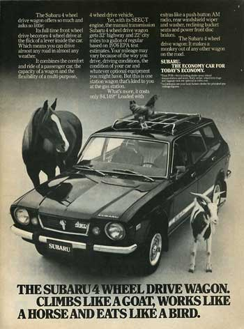 Subaru-ad 1976 4WD-Wagon-ad