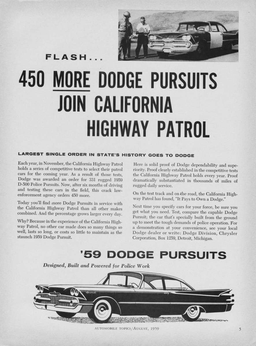 1957 dodge police car