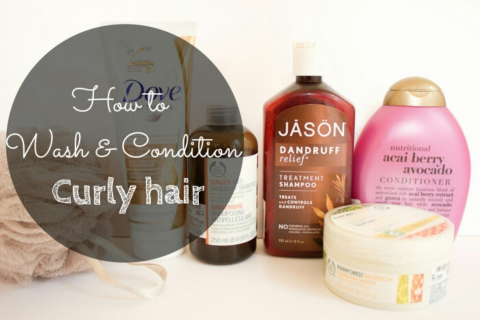 How to wash & condition curly hair