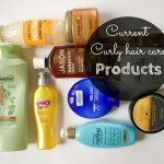 My current curly hair care products