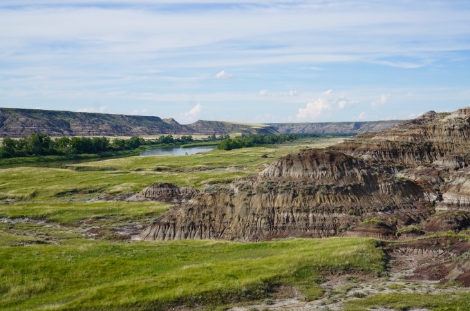 Drumheller high up view