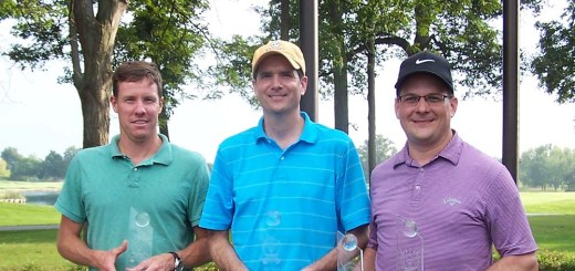 First-place team from Northwest Radiology: Pat Murphy, Brian Wiegel, Kent Hansen. (Photo by Tonya Burton)