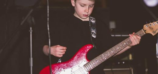 Killian Pozdol, 11, of Carmel. The picture was taken at a benefit concert at Three D's in March. (Submitted photo by Jim Meyer of Meyer Photography)