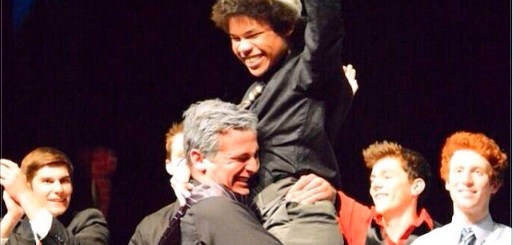 Thomas Diep being crowned Mr. Zionsville by Candice Park (submitted photo)