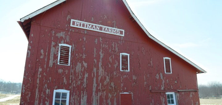 The Pittman Farms red barn sits on the corner 116th Street and Michigan Road. The barn is epeted to be torn down later this year. (Photo by Theresa Skutt)
