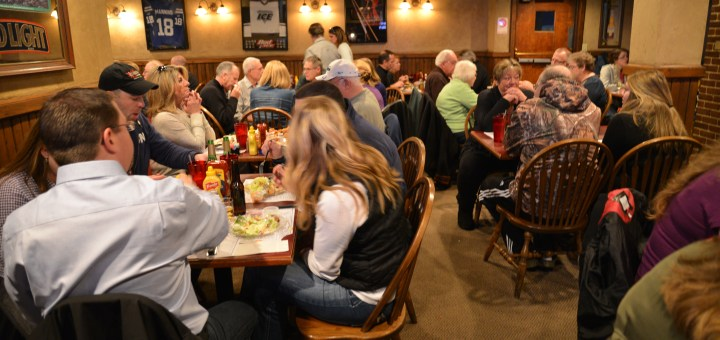 The Friendly Tavern sees a large crowd every day for lunch. For St. Patrick's Day, the restaurant will serve more than 700 pounds of cabbage and potatoes combined. (Photo by Dawn Pearson)